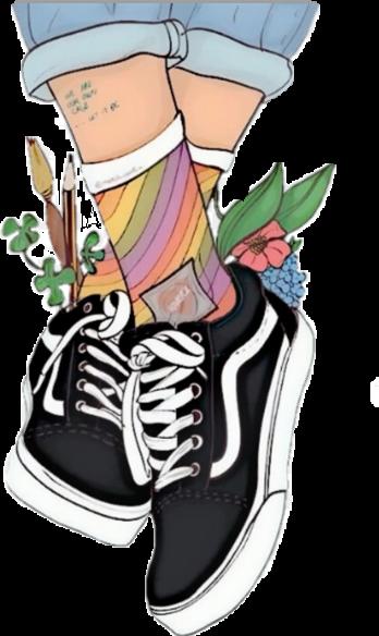 vans aesthetic shoedrawing drawing shoes vansshoes remi