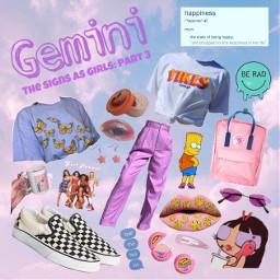 freetoedit gemini zodiacsigns thesignsasgirls aesthetic