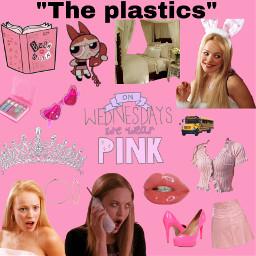freetoedit reginageorge meangirls plastic onwednesdayswewearpink