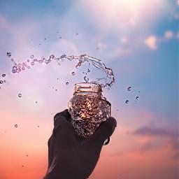 scenery jar water satisfying asmr