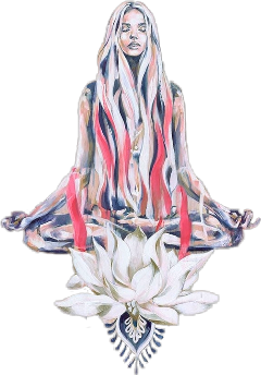 yoga woman painted jingjang meditation freetoedit scyogastickers