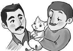 freddiemercury notmydrawing notmyfanart cat