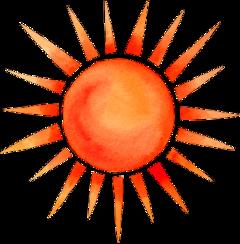 sun watercolor sunny summer freetoedit