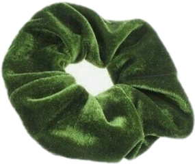 freetoedit green emerald scrunchie