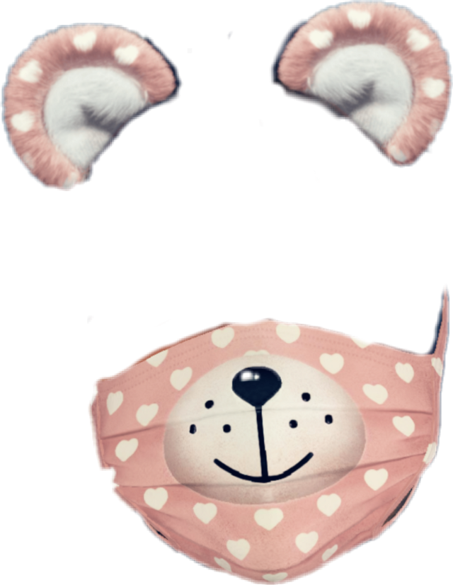 #snapchat #filter #pink #heart #white #whitehearts #whiteheart #mask #bear #ears #bearears #ear #pinkbear #pinkears