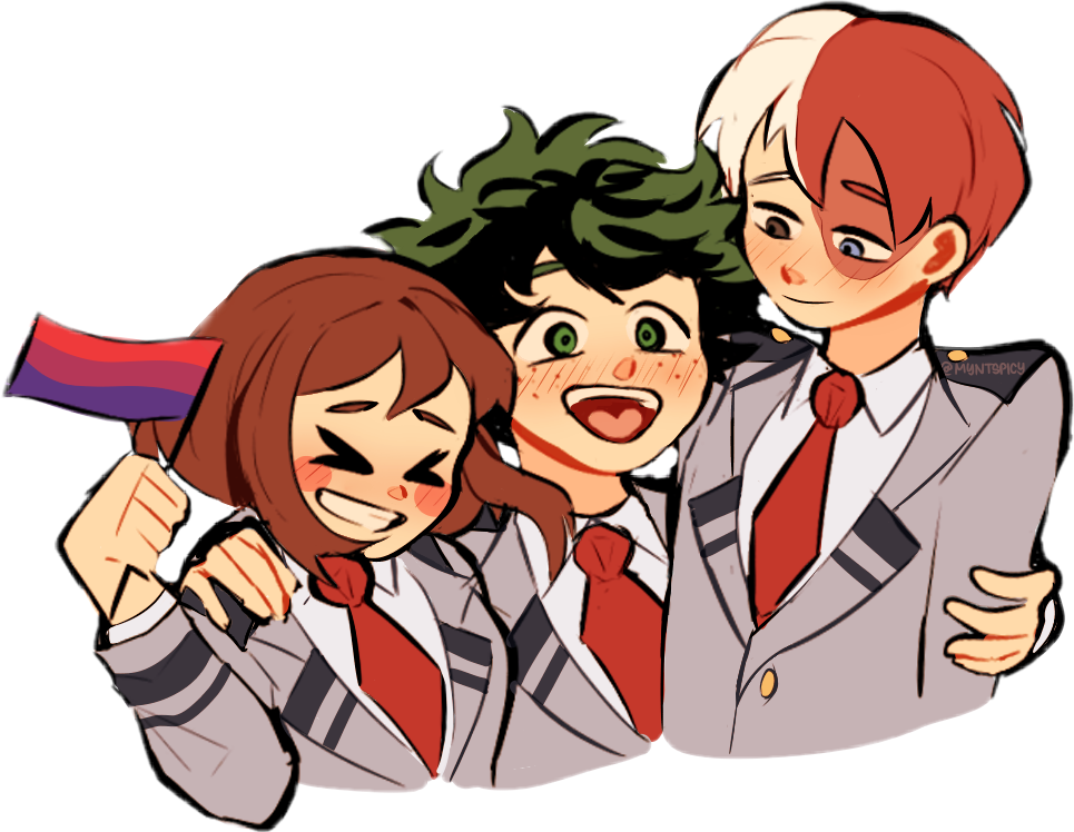 bi bisexual pride anime bnha mha deku izukumidoriya mid...
