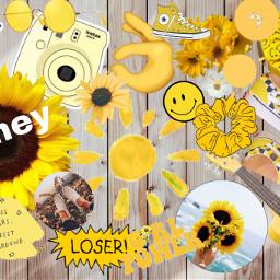 freetoedit yellow aesthetic background loveyourself