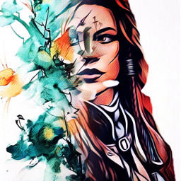 freetoedit warriorwoman portrait posterart myedit