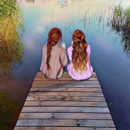 keepitsimple123 vipshoutout akvarele sundaymorning sisters freetoedit