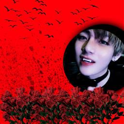 freetoedit btsvampire taehyung taetae vampire