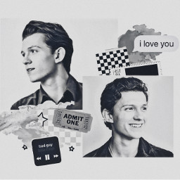 aestheticdreamz900 tomholland aesthetic blackandwhite b freetoedit
