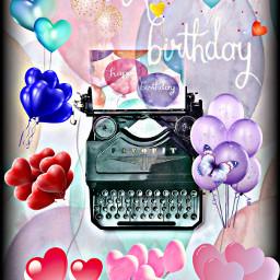irctypewriter typewriter freetoedit balloons greeting