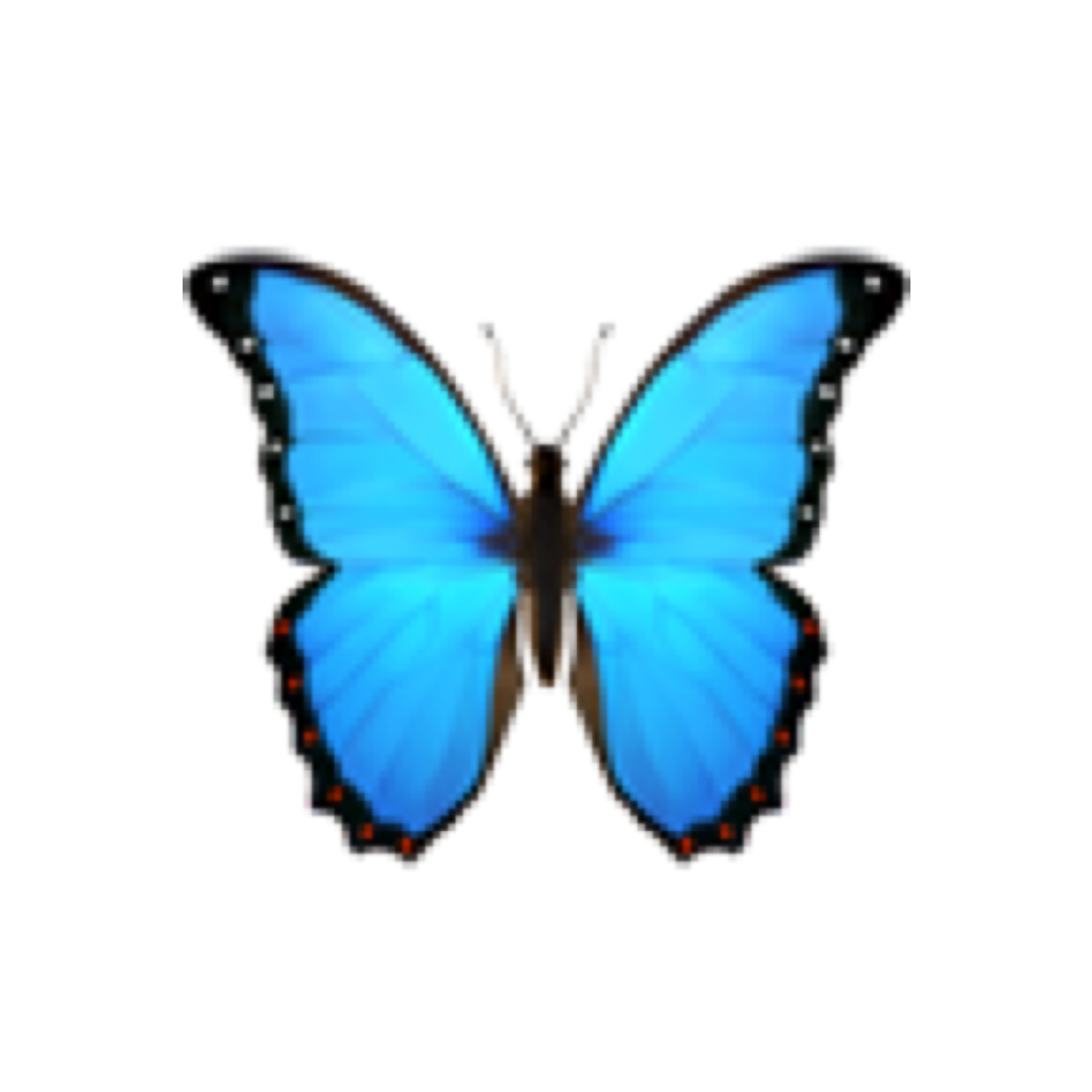 blue butterfly insect emoji cute emojis leaf tumblr aes...