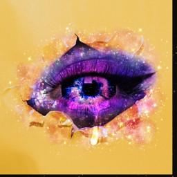 freetoedit galaxymakeup galaxy eye eyeart