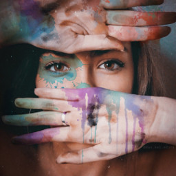 freetoedit hands colors splash watercolors