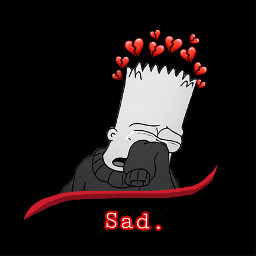 sad broken cry simpson heart freetoedit