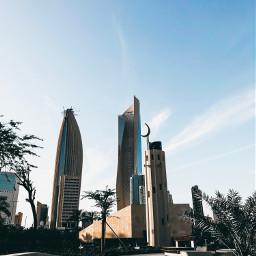 kuwait city towers mosque iphonex freetoedit