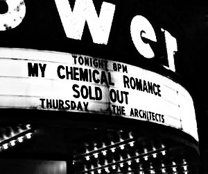 #freetoedit im thinking to change up my theme          #mychemicalromance #aesthetic #emo #bands #blackandwhite #concert #soldout