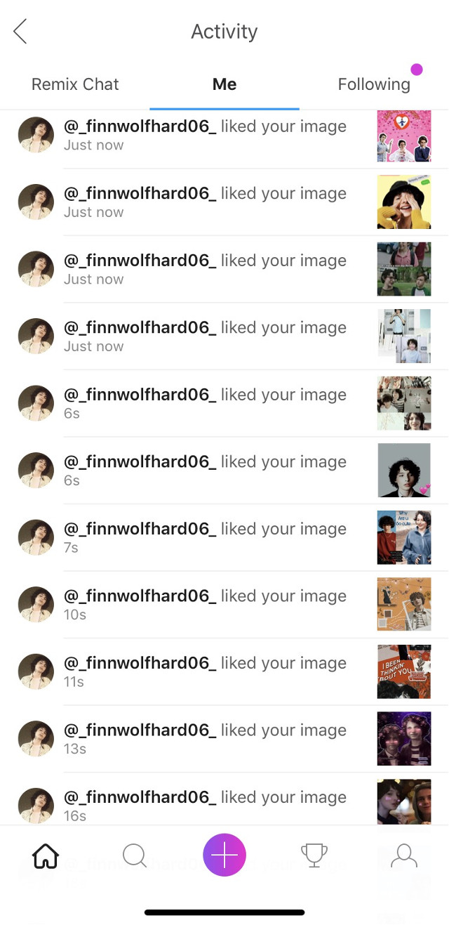 Thx for the spam @_finnwolfhard06_