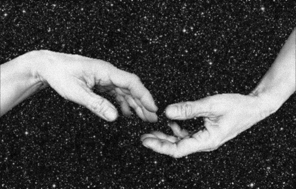 #freetoedit #hand #hands #handsintheair #touch #feel #space #universe #vacuum #noise #black #blackandwhite #empty #distance #hope #desire