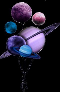 balloon planetballoon planets purple purplepallete freetoedit