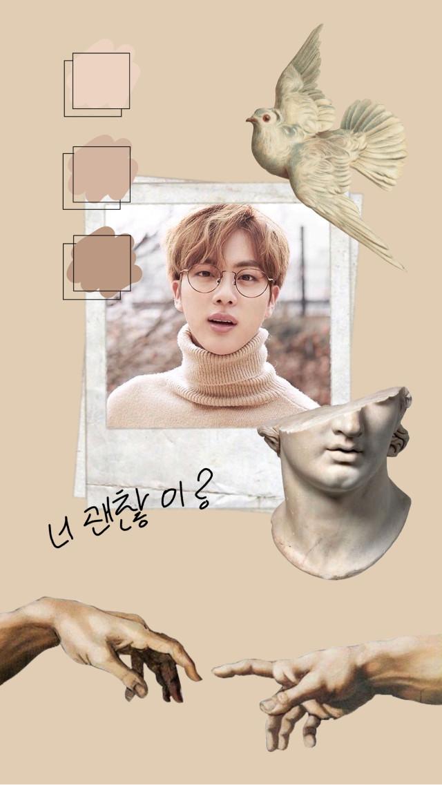 #jin #seokjin #army #bts #beige #wallpaper #enjoy  #freetoedit