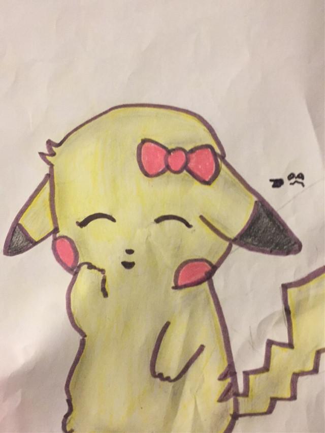 #Drawing #pikachu #pika #pikachukawaii #cute #pokemon @maudado06  @picsart #ZoeyPanda