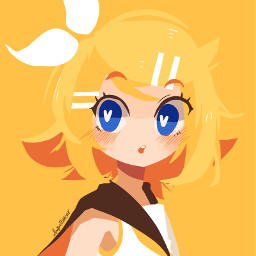 freetoedit anime animegirl yellow yellowaesthetic
