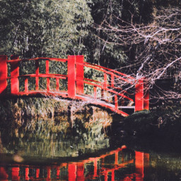 freetoedit japan red bridge water