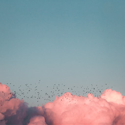 sky pink cloud clouds background freetoedit