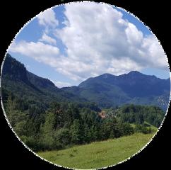 view clouds mountains circle sticker schullandheim freetoedit