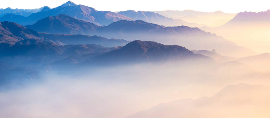 freetoedit landscape mountain fog sunset scenic
