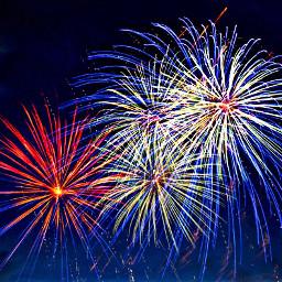 freetoedit redwhiteandblue fireworks 4thofjuly sky