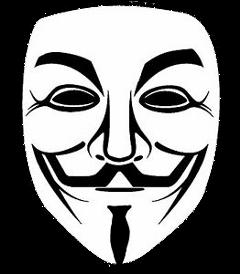 hacker anonymous sticker freetoedit