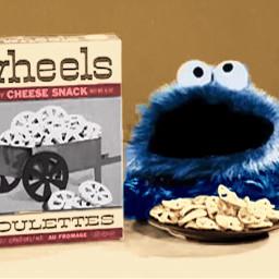commercial cookie cookiemonster cookies crowns scwheel freetoedit