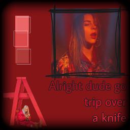 aesthetic billieeilish billieaesthetic red redaesthetic freetoedit