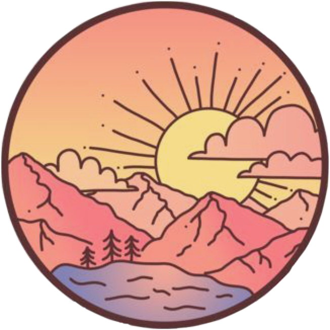 cute sunset sun sunrise mountains lake vsco pinkaesthet