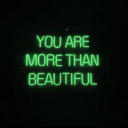 aesthetic neonlights green quote beauty freetoedit