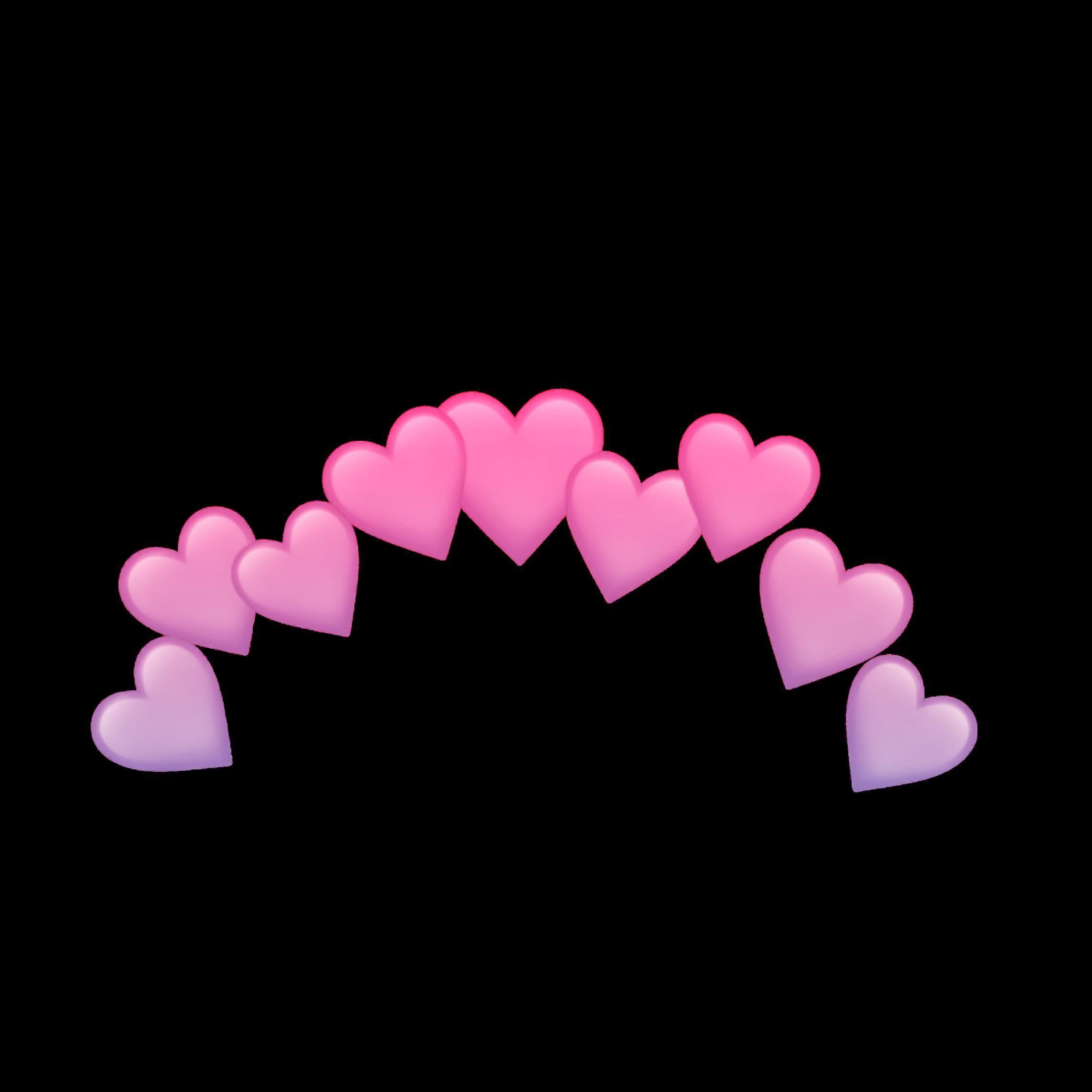 Картинки ободка из сердечек с прозрачным фоном блин