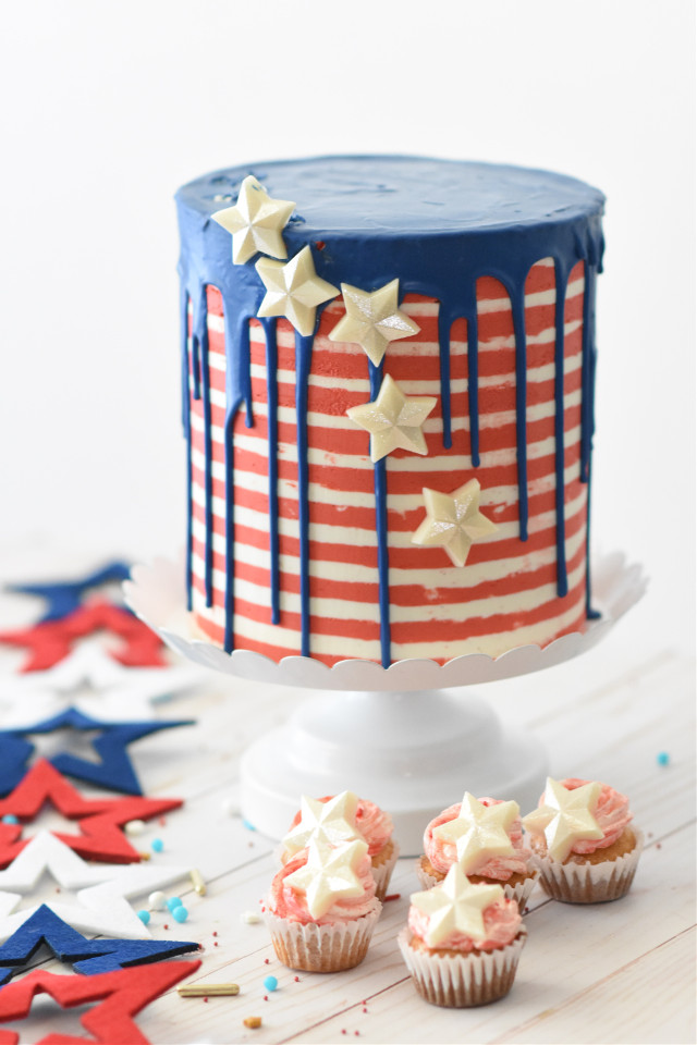Create a delicious remix! Unsplash (Public Domain) #cake #food #colorful #fourthofjuly #july4th #freetoedit