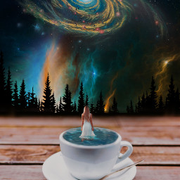tinypeople galaxy cup surreal freetoedit