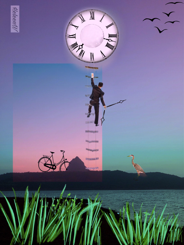 Do you know what time it is #man #clock #colored #repair #landscape #colorful #myfantasy #imagination #interesting #madewithpicsart #myedit #myart #mystyle #becreative #freetoedit