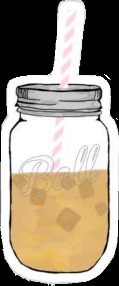 vsco aesthetic icedcoffee masonjar straw freetoedit