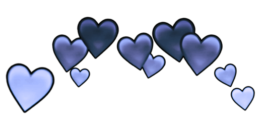 blue heartcrown crown hearts fame