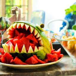 interesting summer party watermelon art pchealthylifestyle healthylifestyle