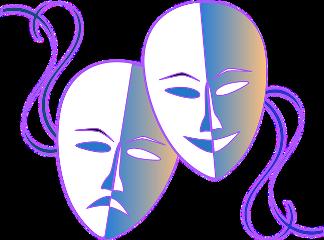 freetoedit masks mimes theatrical purple
