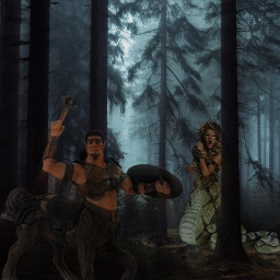 freetoedit mythicalforest mythicalcreatures darkforest greekmythology