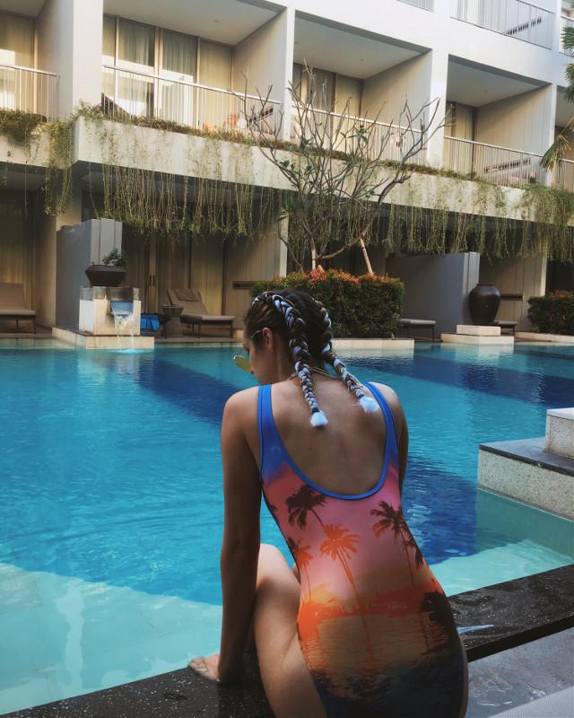 Follow me on insta! @shaye_anna #bali #vacation #summer #pool #edit #remix #freetoedit #remixthis #picsart #poolside #frankocean #water #fun #me #girl #boujee #hair #photography #instagram #aesthetic
