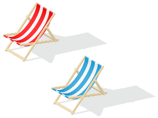beachchair beach chair blue red stickersfreetoedit freetoedit