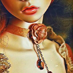 bjddoll bjd doll lips necklace